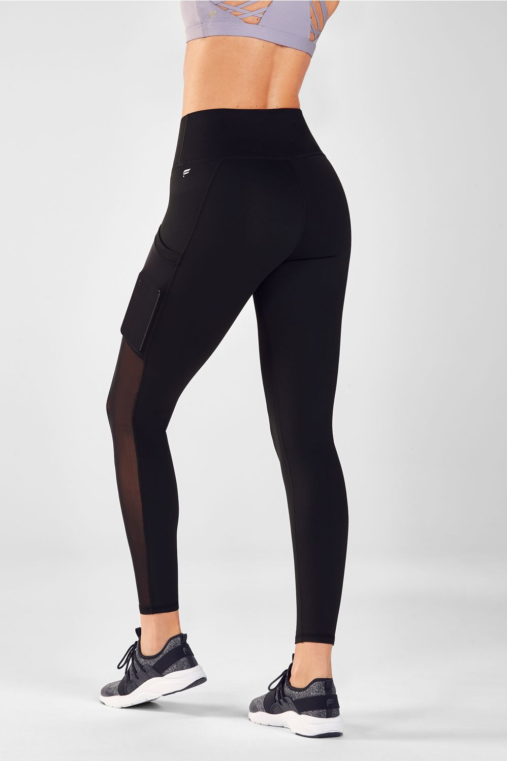 Mila High-Waisted Pocket Legging - Black (Mesh)