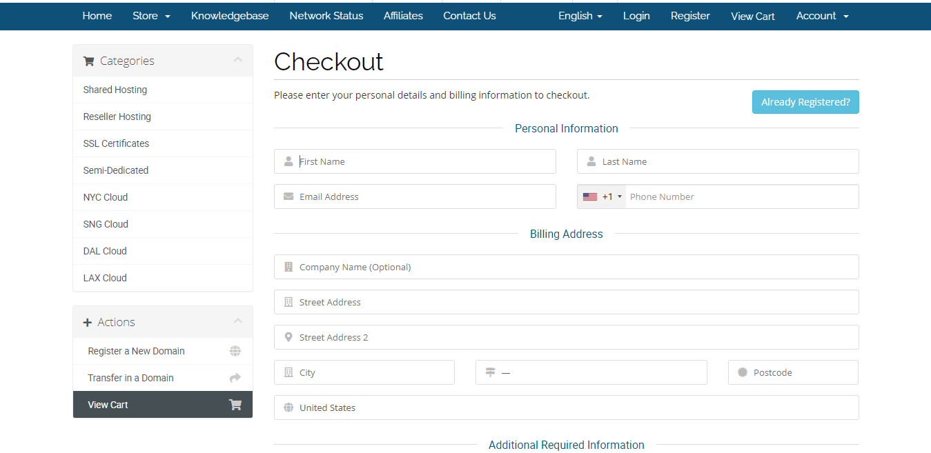 Hawkhost Activation  Step 8