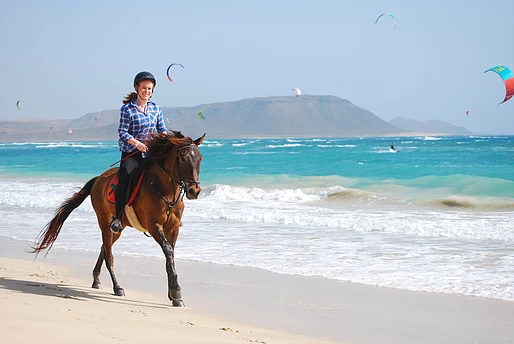 Riding Along Cape Verde Beach