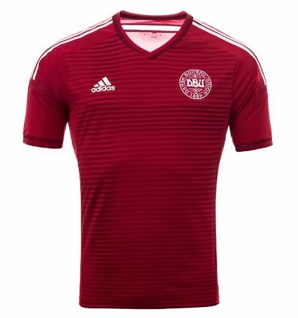 brand new e0e1e 3d3c8 Denmark Adidas National Team Kit 2014 Home & Away - Released