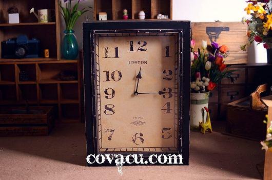 Thiết kế đồng hồ gỗ để bàn đơn giản cho không gian đã quá cầu kì, nhiều chi tiết