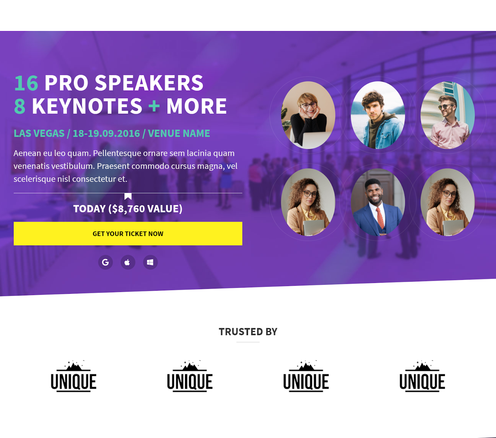 Open Even wordpress conference theme