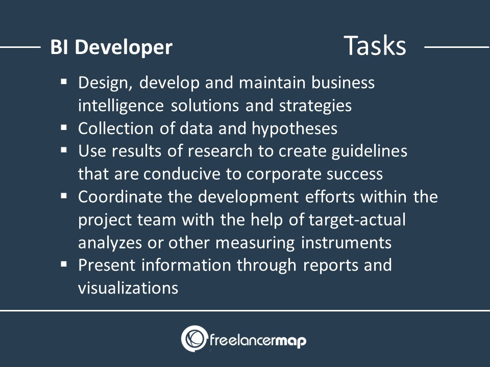 Tasks of a Business Intelligence Developer
