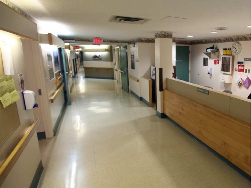 A nursing station inside Building 8 at Alberta Hospital in Edmonton. File photo.