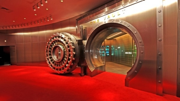 coca-cola vault that contains the secret recipe.