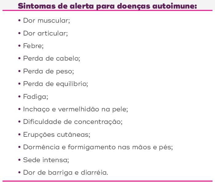 sintomas de alerta para doenças autoimune