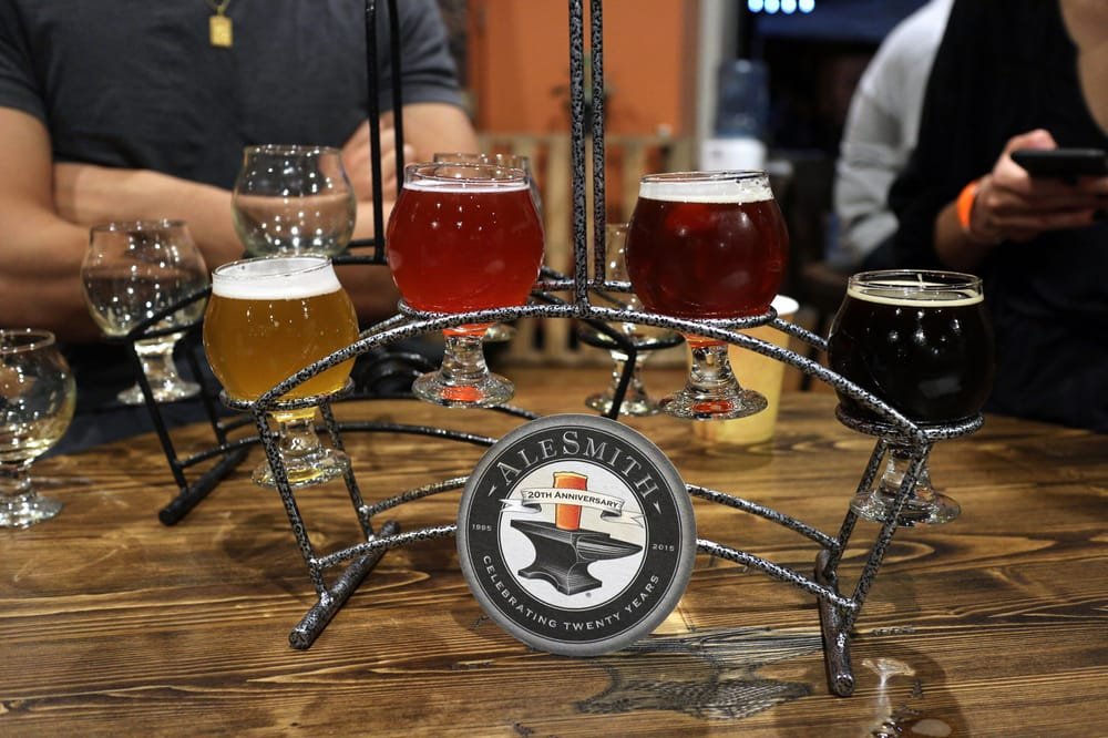 A tasting from Alesmith, one of San Diego's 150 breweries