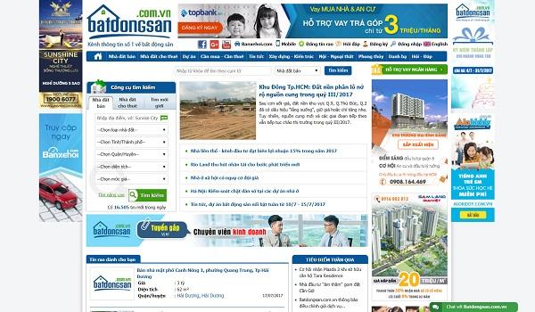 Batdongsan.com.vn có lượng truy cập lớn