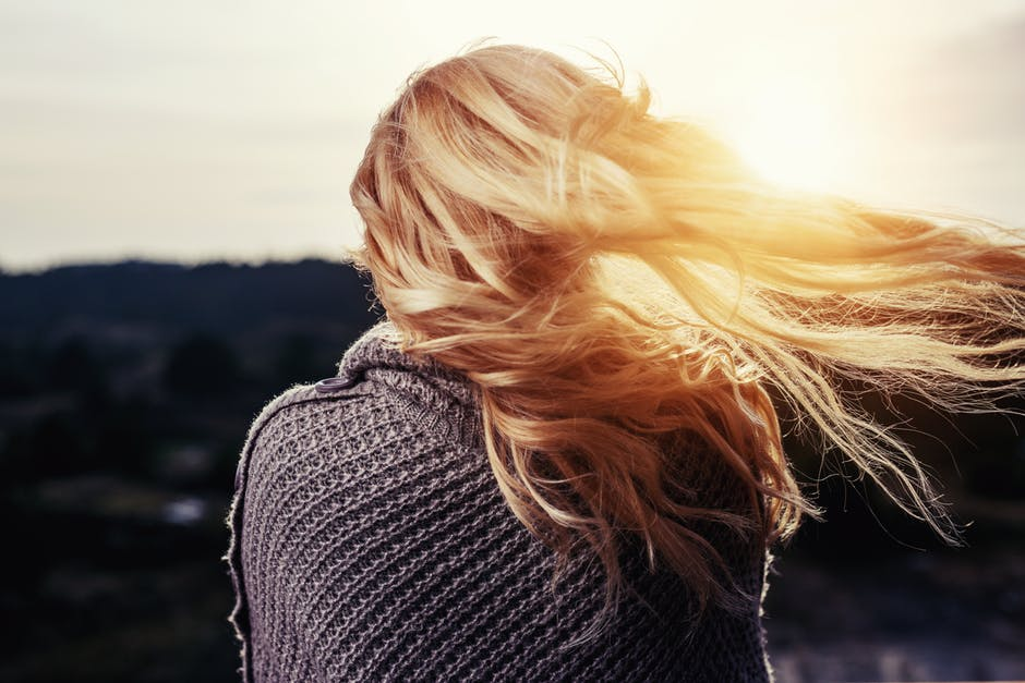 blonde, girl, golden