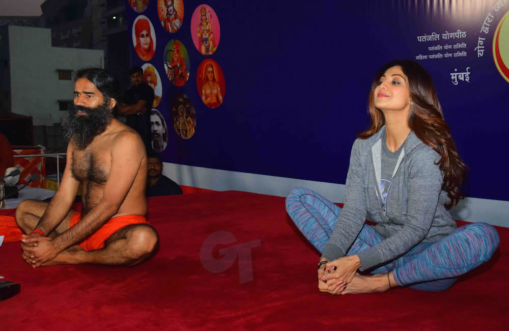 Baba Ramdev and Shilpa Shetty