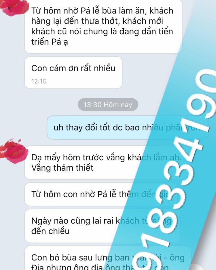 Một người ở TP.HCM báo lại tin vui sau khi xin bùa của thầy Pá vi