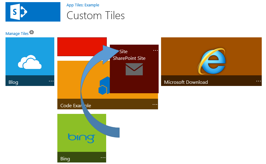 My time break for sharepoint example custom ui style for Tile layout app