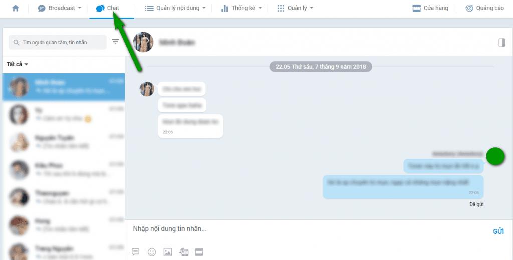 Chat với khách hàng trong Zalo Official Account