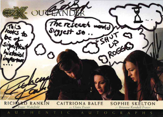 CZX Outlander: Triple Autograph Card