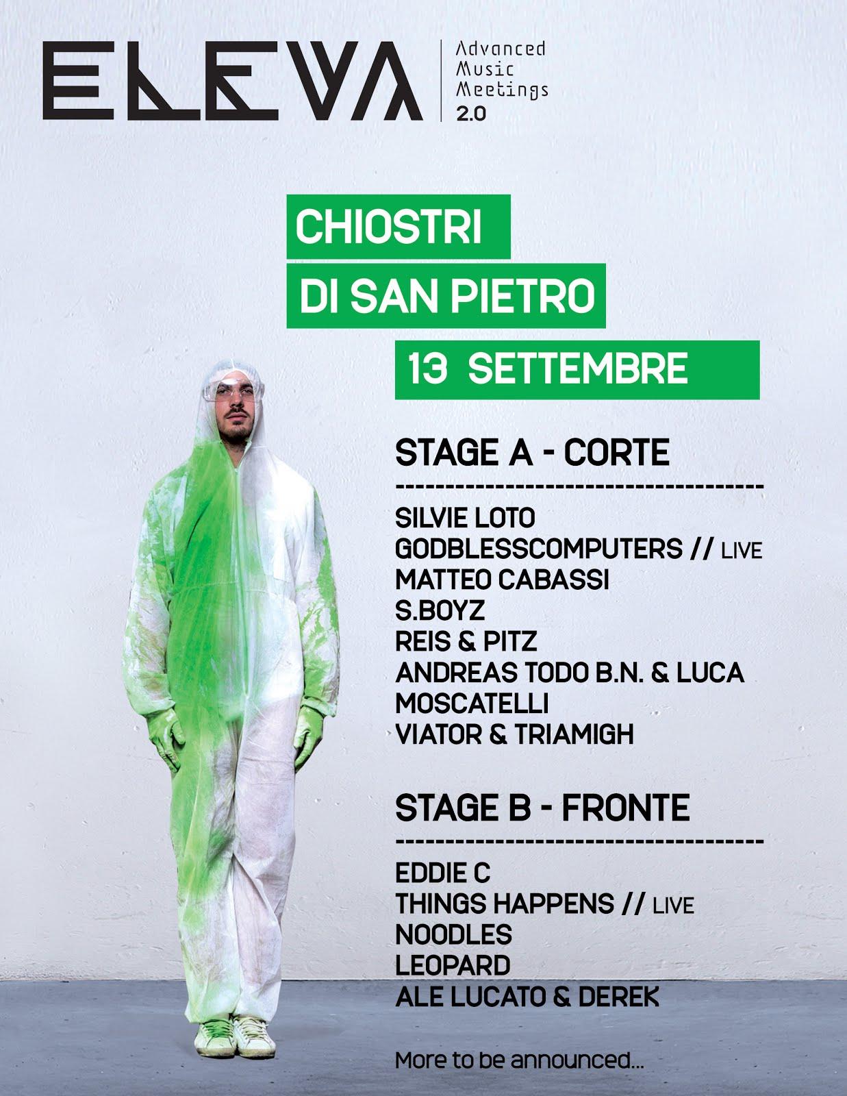 Eleva Festival Meeting Verde 13 Settembre @Chiostri di San Pietro