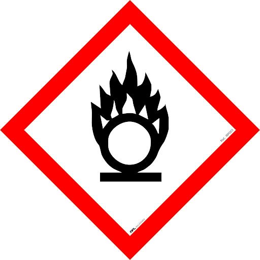 Pictograma productos químicos comburentes