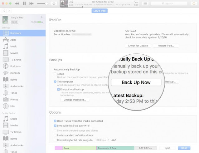 انشاء نسخ الاحتياطي على iPhone عبر icloud drive