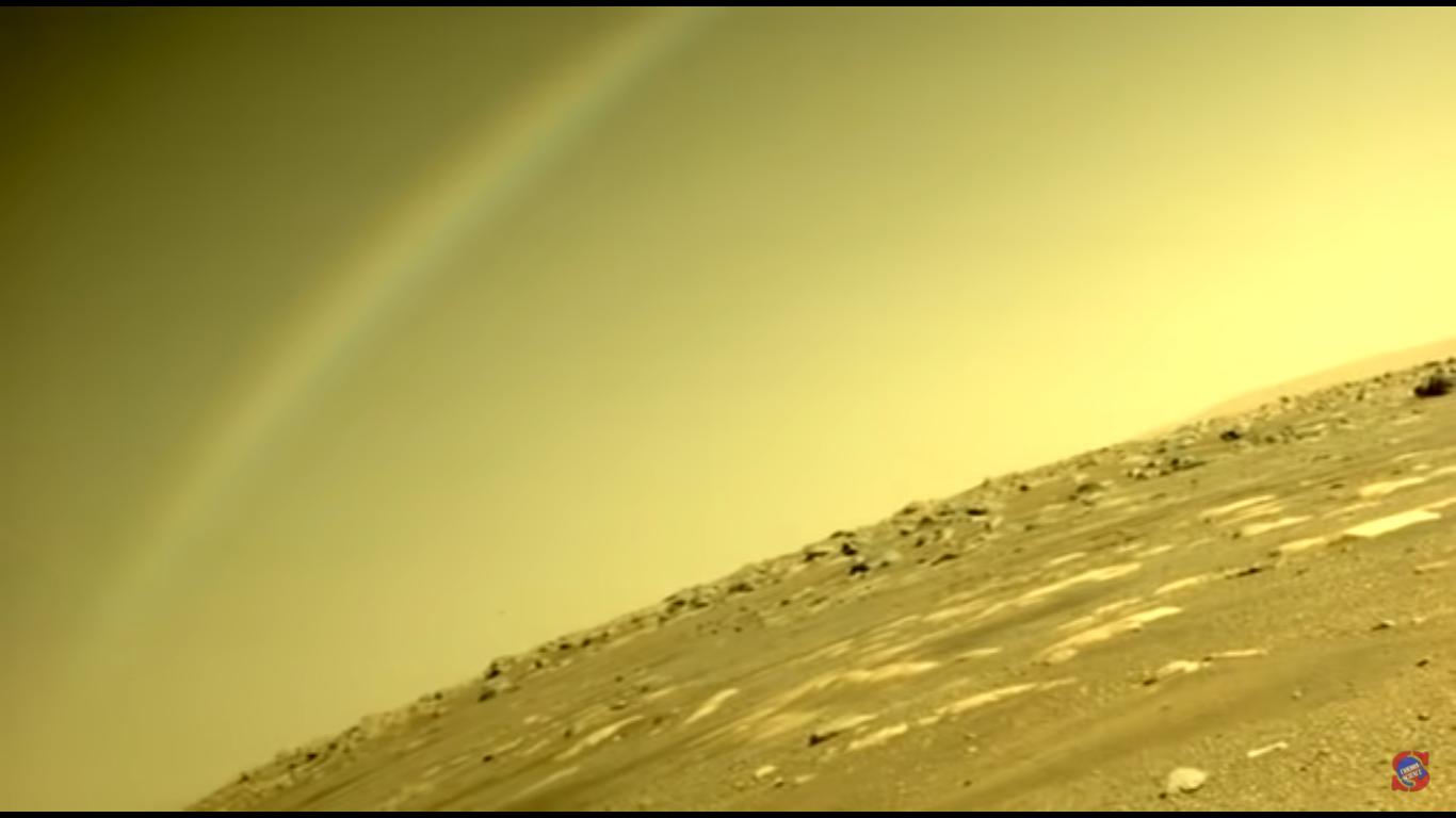 Rainbow on Mars