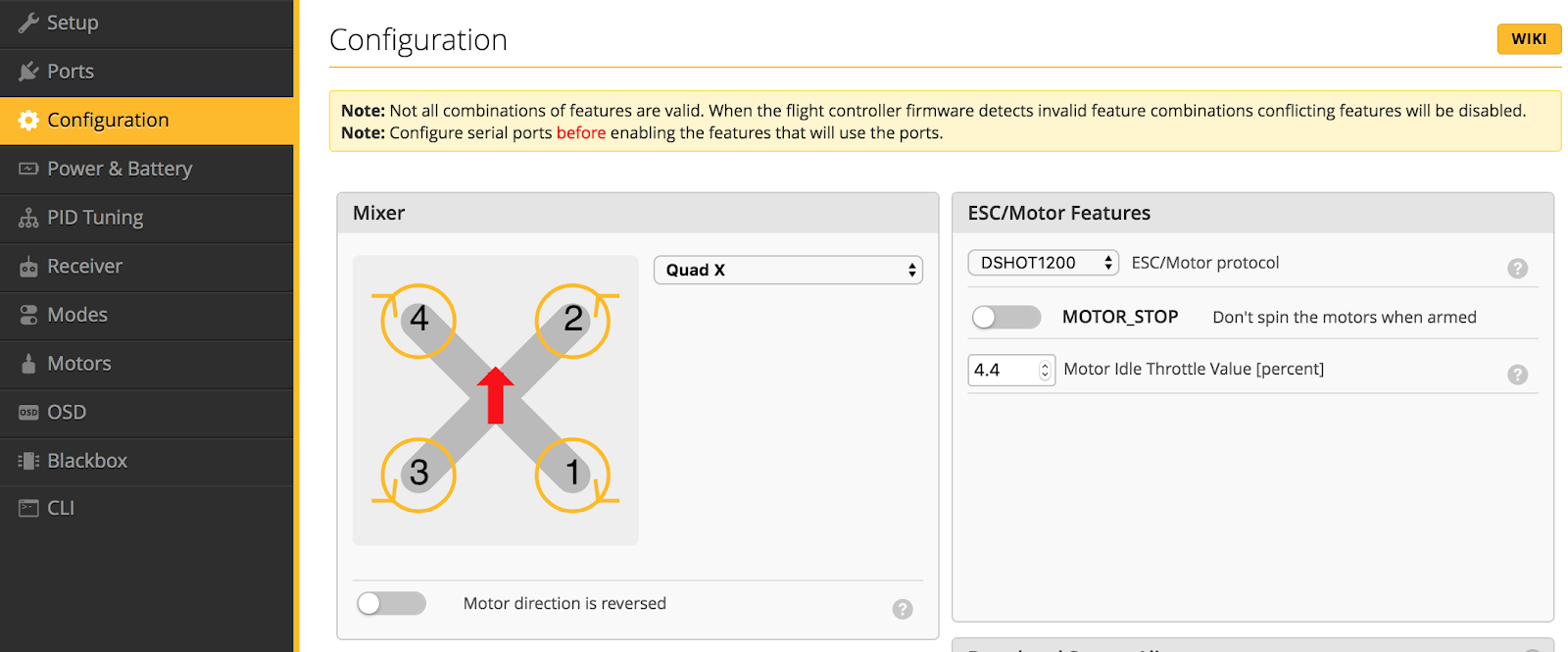Betaflight 4.0.5 設定メモ Marmotte 6S<2>PID Tuning以外