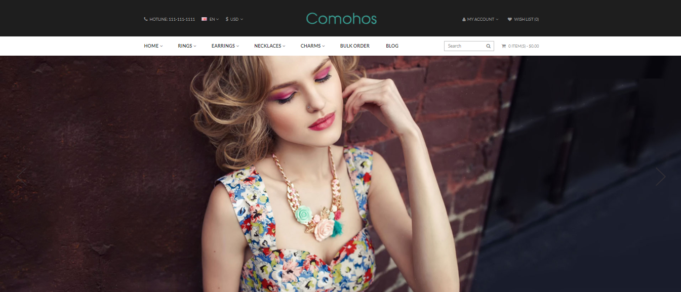 Comohos - Opencart jewelry theme