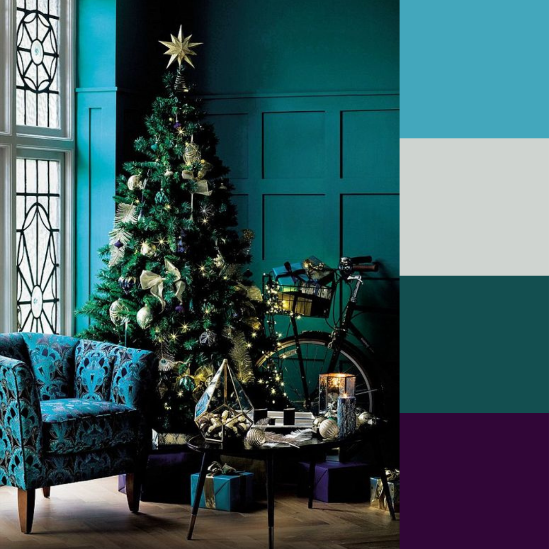 Teal, Turquoise, & Purple