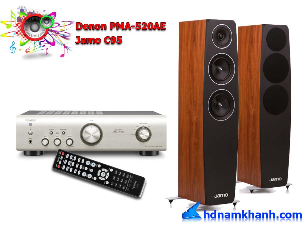 Amply Denon PMA 520AE, bộ âm thanh nghe nhạc dưới 21tr, dàn âm thanh giá rẻ