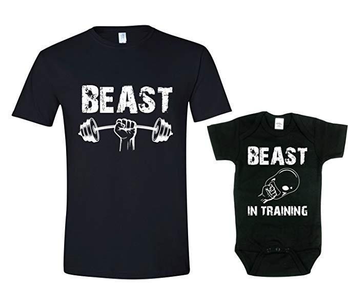 Texas Tees'  Funny Matching Dad's Shirt and Baby's Bodysuit Set