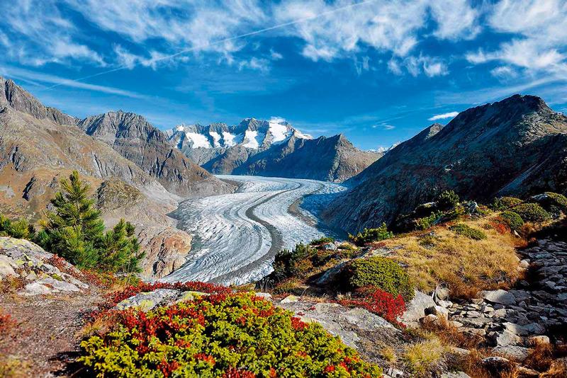 Quang cảnh tuyệt mỹ ở sông băng Aletsch mà không phải nơi nào cũng có