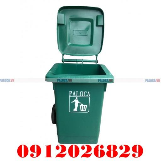 Thùng rác nhựa 80L Paloca siêu bền, chất lượng cao