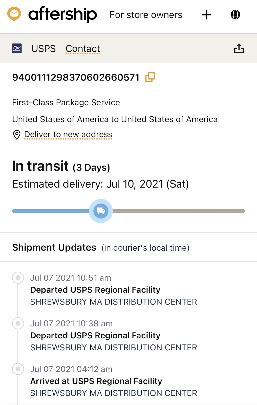 AfterShip Order Tracking Tool
