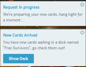 requesting cards