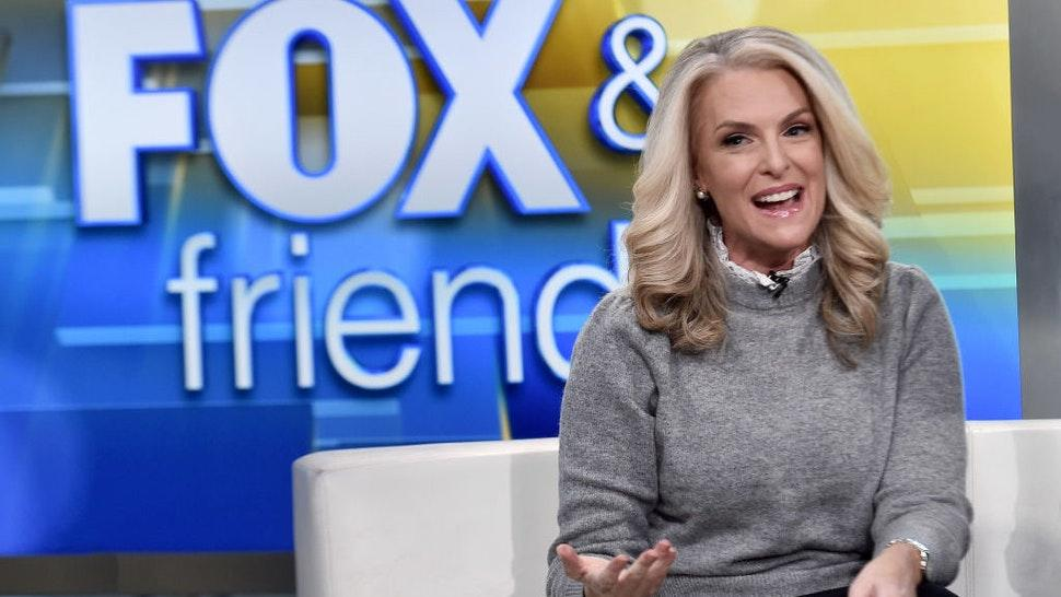 """NEW YORK, NEW YORK - NOVEMBER 04: (EXCLUSIVE COVERAGE) Janice Dean presents on """"Fox & Friends"""" at Fox News Channel Studios on November 04, 2019 in New York City. (Photo by Steven Ferdman/Getty Images)"""