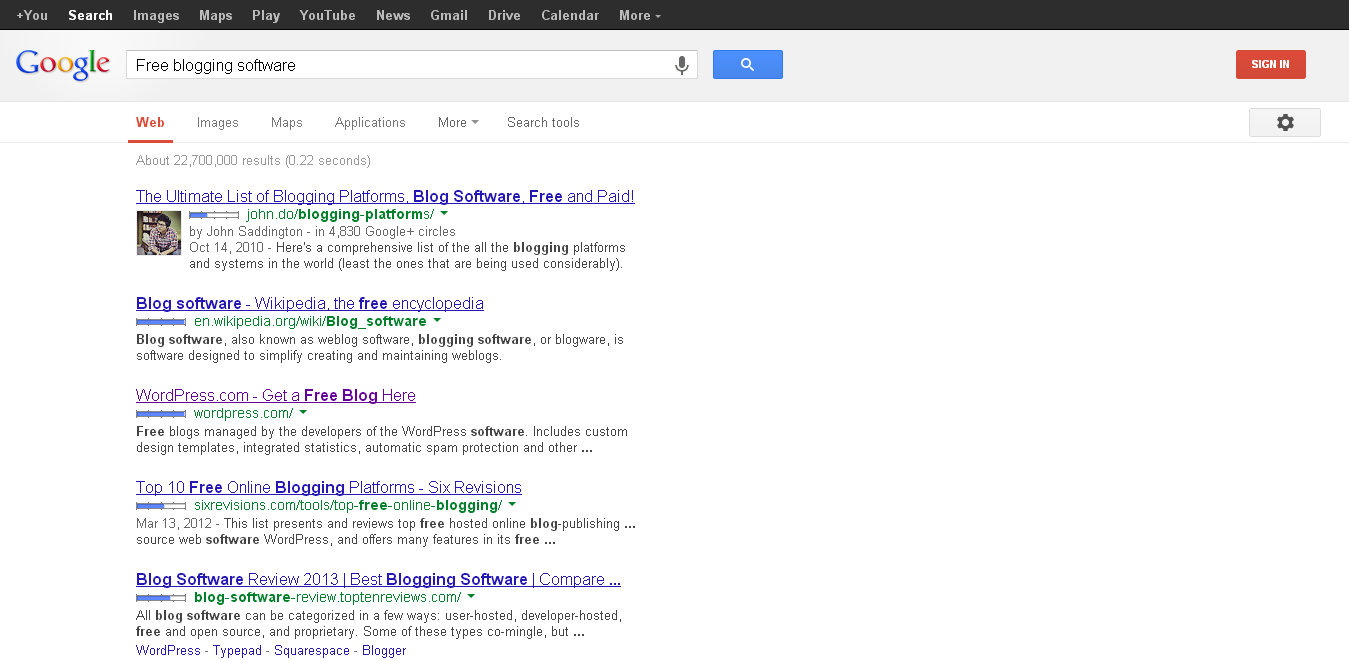 Bing search is more user friendly than Google