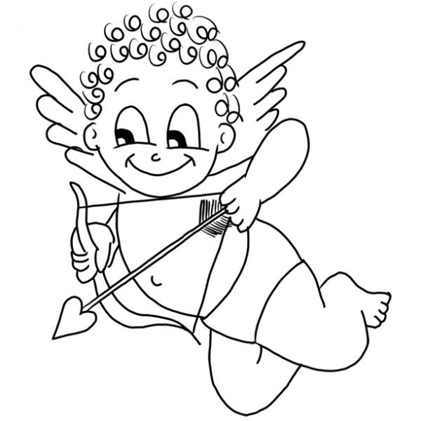 Dibujos de Cupido para Colorear, parte 1