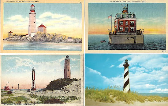Buy your lighthouse postcards at lighthousepostcards.net