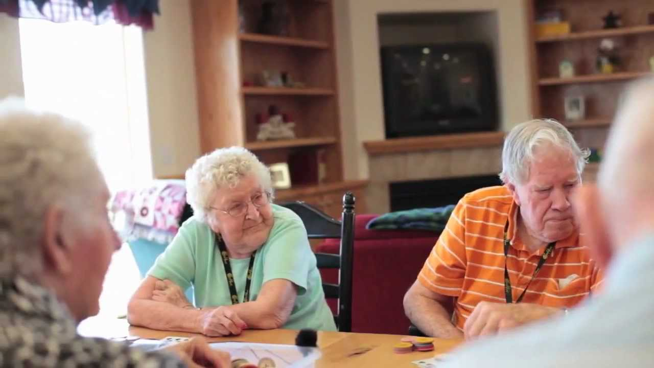 caring for elderly parents at home - old people in a care home