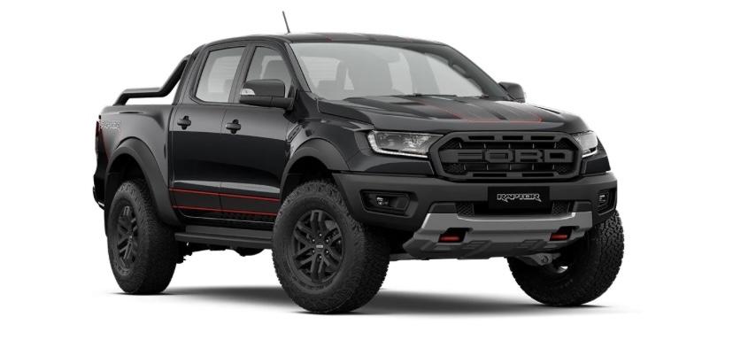 รถยนต์ Ford Ranger Raptor X สีดำ Absolute Black