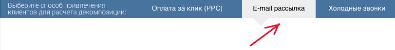Декомпозиция e-mail рассылок