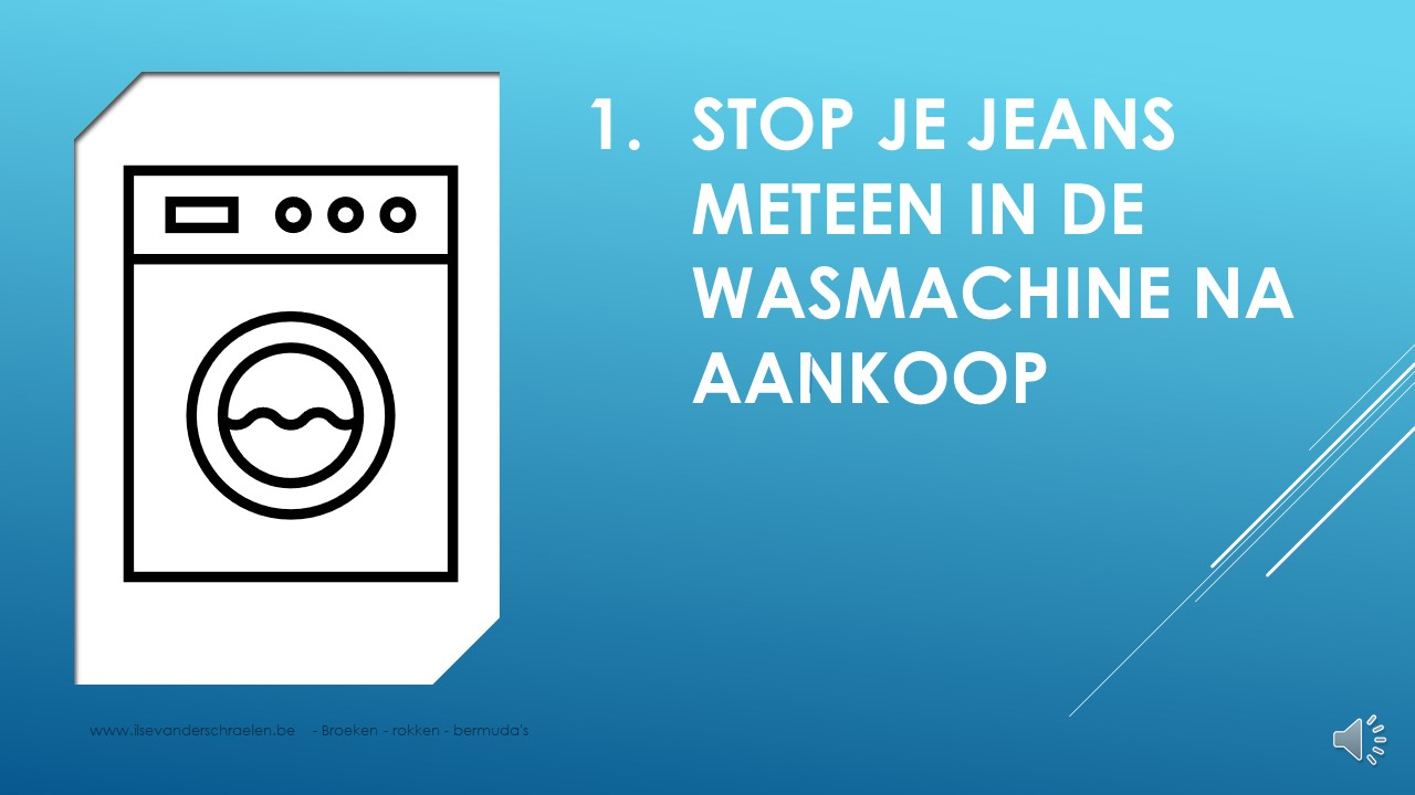 jeansbroek wasmachine