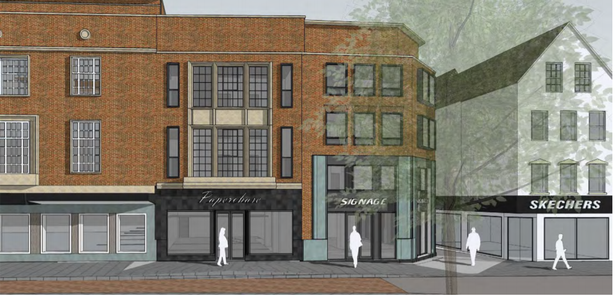 Artist impression of the student flats plan for Exeter High Street