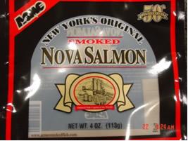 Label: New York's Original Smoked Nova Salmon