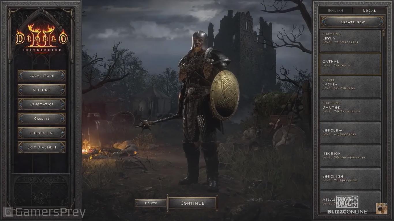Diablo II: Resurrected User Interface