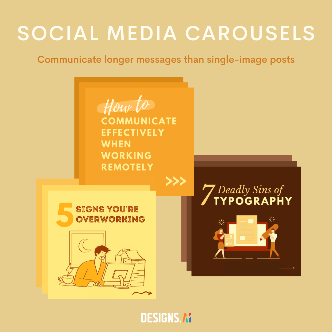 Social media carousels by Designs.ai.