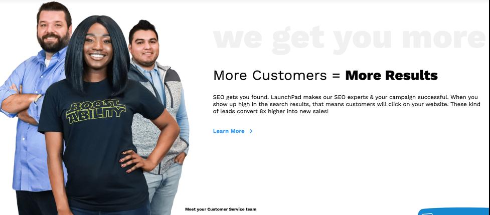 ví dụ về hình ảnh chú thích của nhóm dịch vụ khách hàng