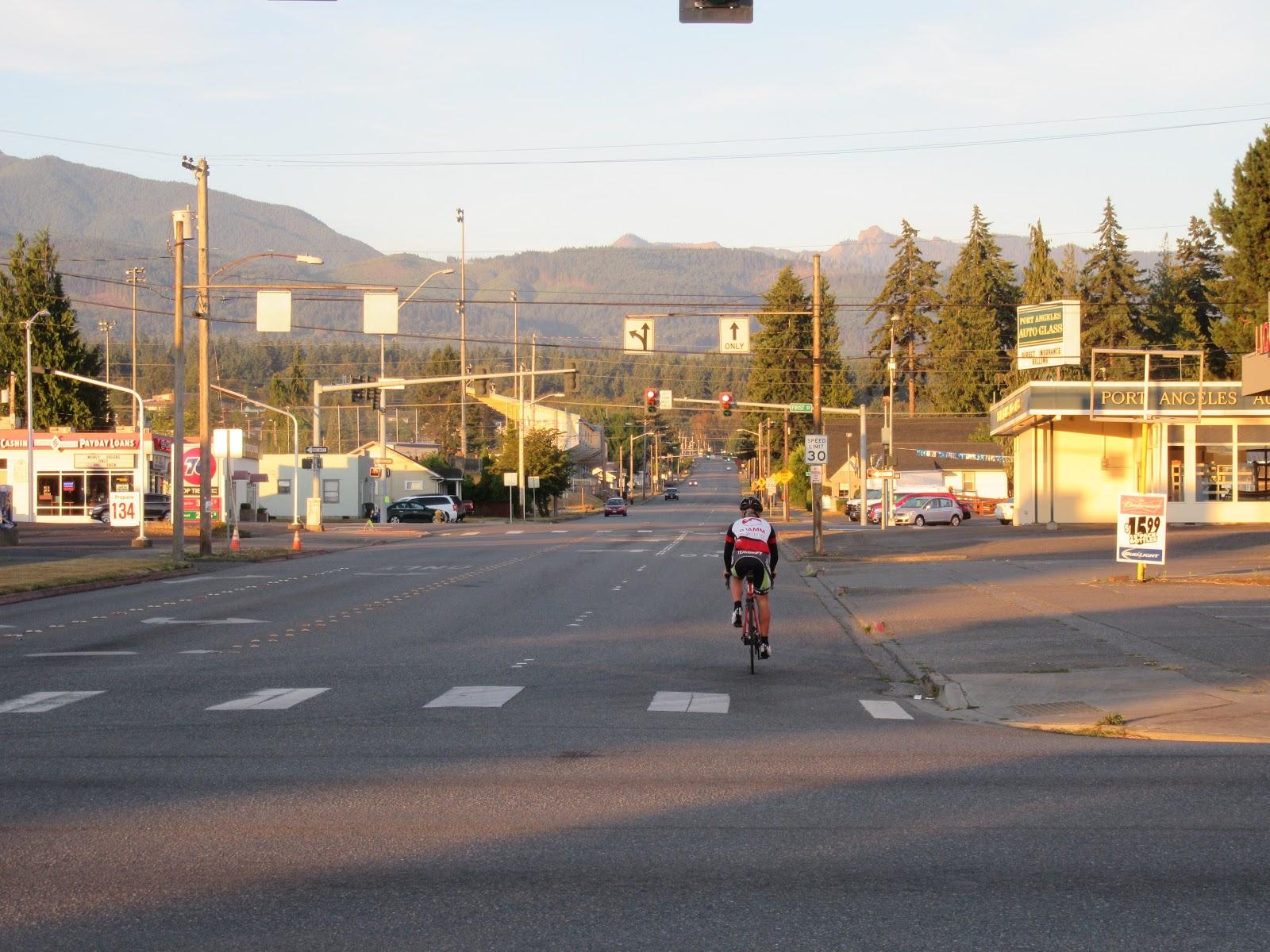 Beginning of Hurricane Ridge Bike Climb,  Port Angeles