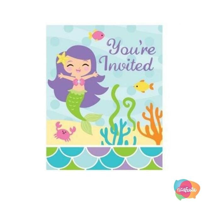Convite  festa sereia - Dani Folloni - Blog Rica Festa