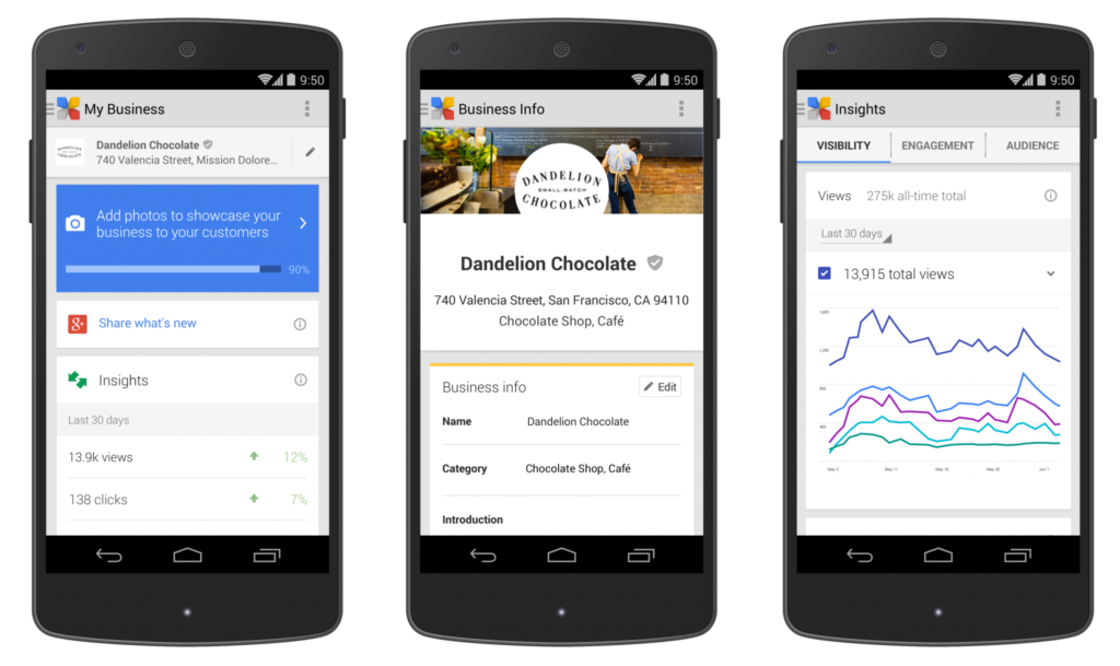Google Mijnbedrijf appp