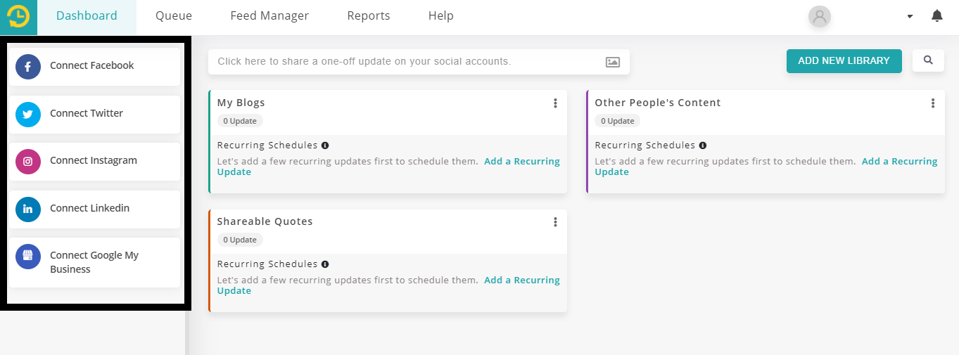 Connect your Instagram personal profile and Facebook profile-recurpost - social media scheduler