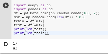 How do I create test and train samples from one dataframe with