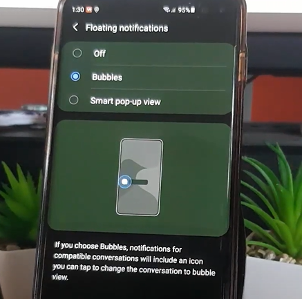 how to disable notification bubbles on android